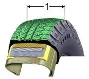 zone sur le pneu - ou la réparation est possible